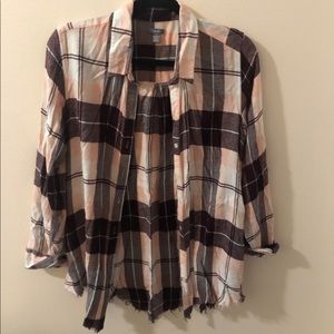 AMERICAN EAGLE PLAID WITH POCKETS!!!!!